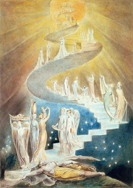 Blake, William: Jacob's Ladder. Fine Art Print/Poster. Sizes: A4/A3/A2/A1 (003578)